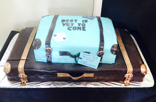 Suitcase cake by Anushka Eastham