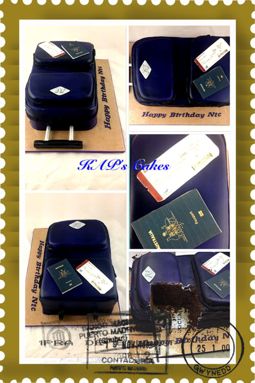 Suitcase cake by Kerrie Porter