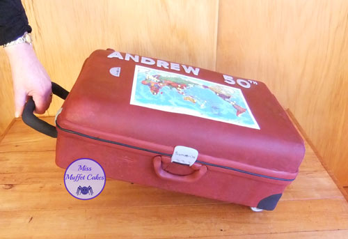 Suitcase Cake by Miss Muffet Cakes