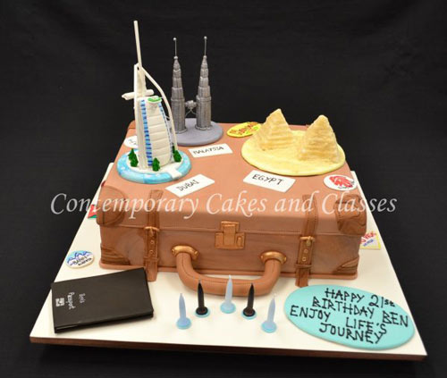 Travel cake by Jackie Thompson