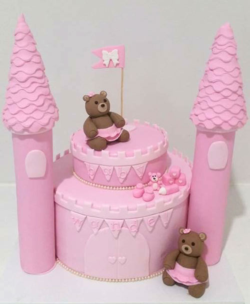 Baby shower castle by Courtney
