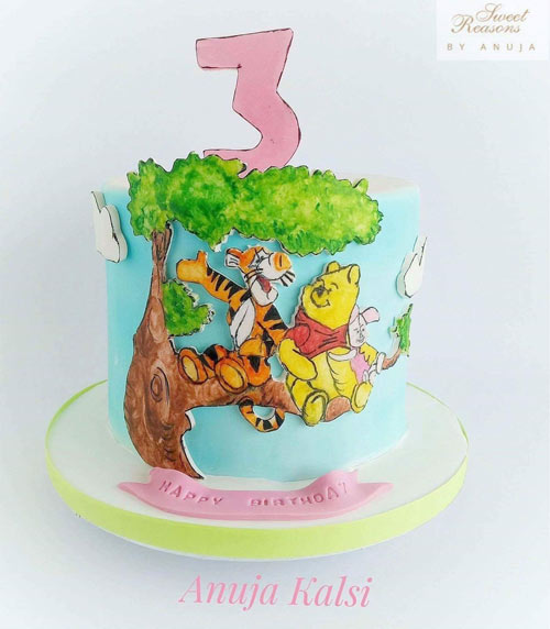 Wininie the pooh cake by Anuja kalsi