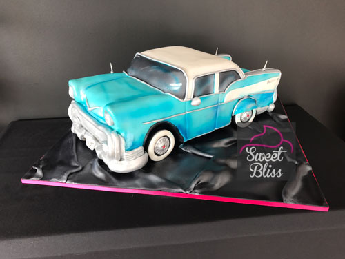 Belair car cake by Rebecca Smith at Sweetbliss