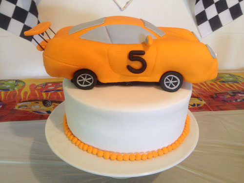 Racecar cake by Tracey Munro;