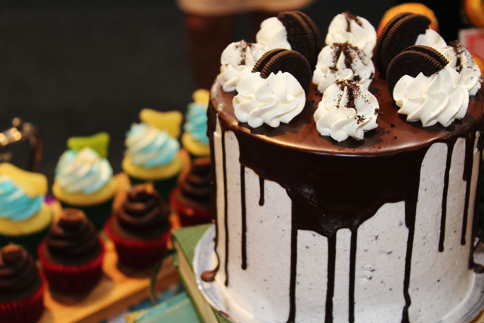 Drip cakes featured different flavours and toppings