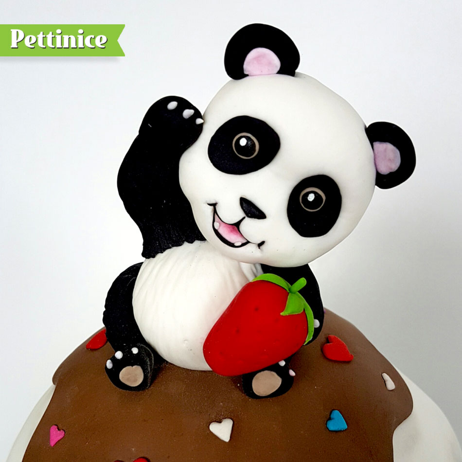 Pettinice | Kawaii Giant Cupcake and Panda cake tutorial