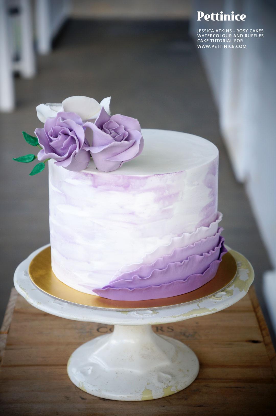 Pettinice How To Make A Watercolour And Ruffle Cake Tutorial