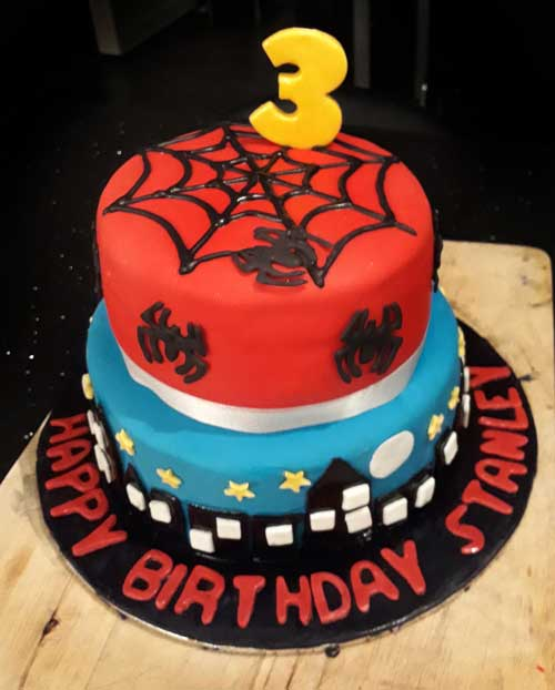Spiderman cake by Sian Howells