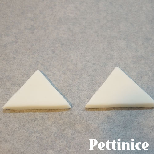 Cut two triangles.