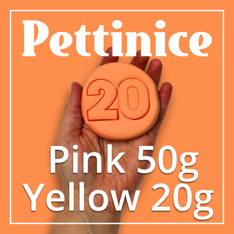 50g Pink + 20g of Yellow Pettinice