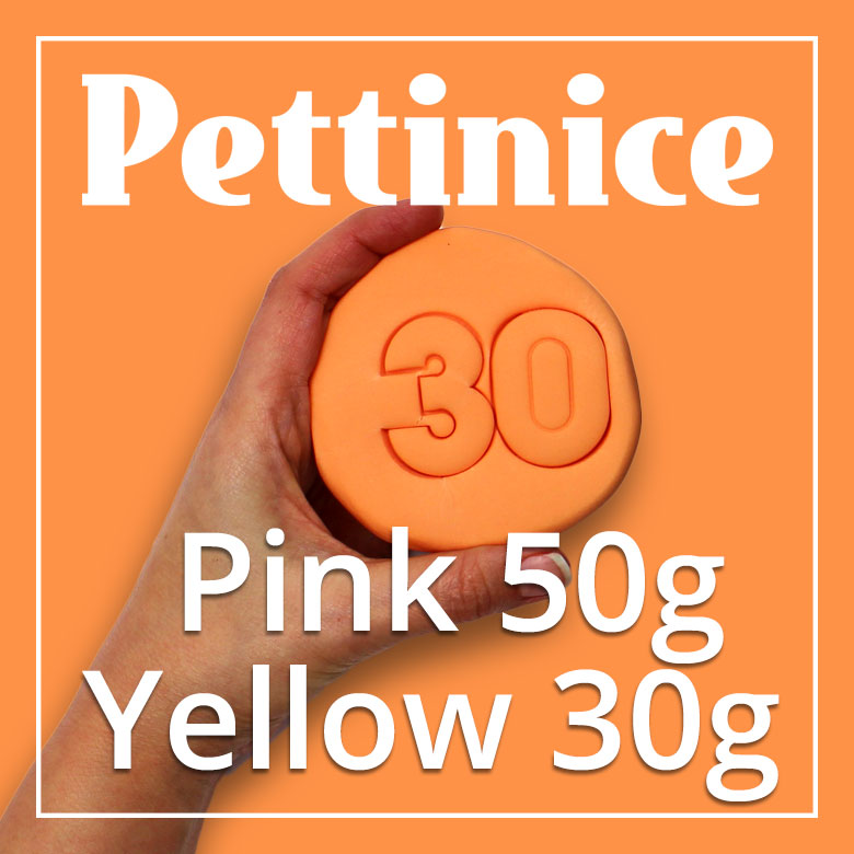 50g Pink + 30g of Yellow Pettinice
