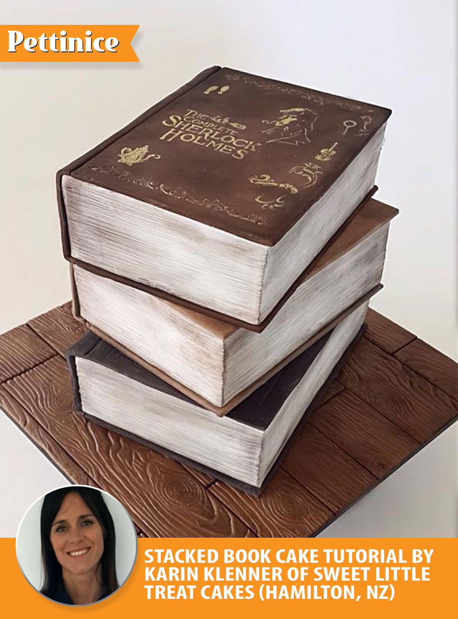 Stacked book cake tutorial with Karin Klenner