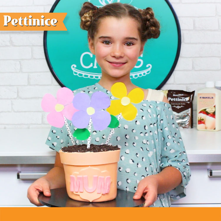 Make a cute flowerpot cake for Mother's Day