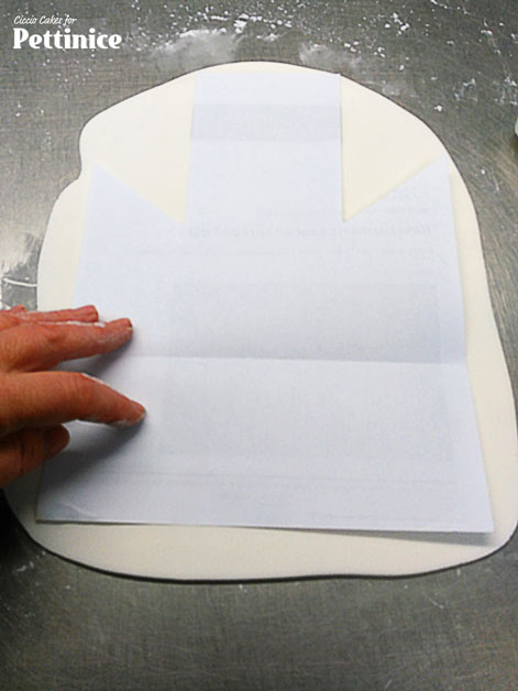 Trace your template to cut out the shape you will need.