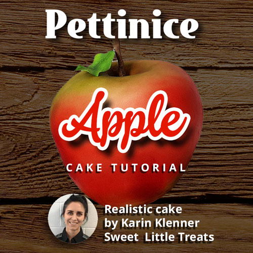 Realistic apple cake tutorial