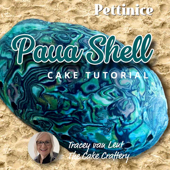 How to make a fondant paua shell finish